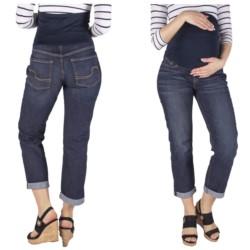 spodnie JEANSY CIĄŻOWE elastyczne Z PANELEM 36