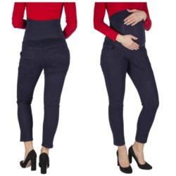 spodnie JEANSY CIĄŻOWE elastyczne Z PANELEM 38