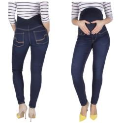 spodnie JEANSY CIĄŻOWE elastyczne Z PANELEM 34