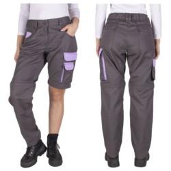 2gat spodnie DAMSKIE ROBOCZE 2w1 ODPINANE 36