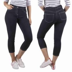 NEXT spodnie damskie 7/8 CZARNE JEANSY RURKI 36