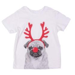 zabawny t-shirt DZIECIĘCY PIES RENIFER 4 lata