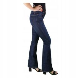 ZARA SPODNIE jeansy DZWONY długie BOHO r 42