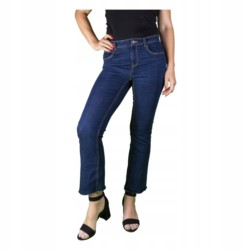 ZARA SPODNIE jeansy DZWONY 7/8 BOHO r 40
