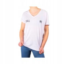 BERSHKA t-shirt oversize CALL ME piękny tył M