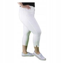C&A białe SPODNIE jeans 3/4 capri PLUS SIZE 48