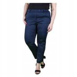 WIZYTOWE spodnie CYGARETKI 7/8 GRANAT PLUS SIZE 48
