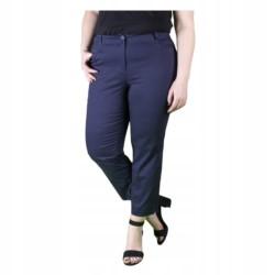 WIZYTOWE spodnie DAMSKIE 7/8 GRANATOWE r 48