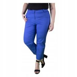 WIZYTOWE spodnie DAMSKIE 7/8 CHABROWE r 60