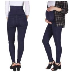 spodnie JEANSY CIĄŻOWE elastyczne Z PANELEM 48